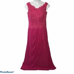 JJ's House Formal Gown Fuchsia size 14 NWT